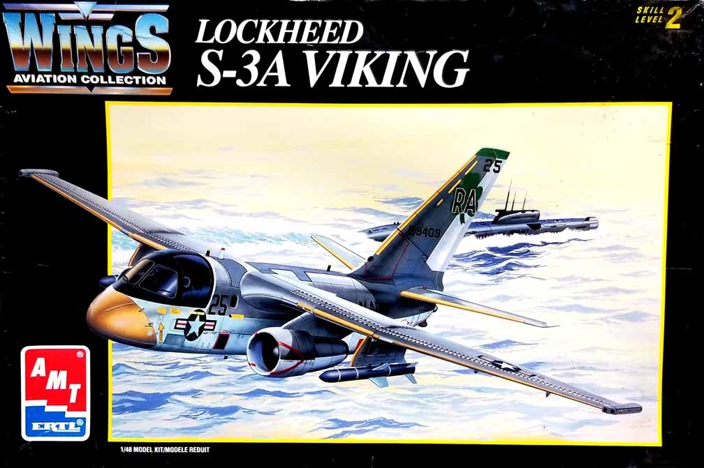 AMT #8634 1/48 Lockheed S-3A Viking Submarine Hunter