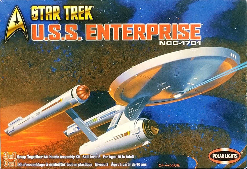 POLAR LIGHTS #4200 1/1000 STAR TREK U S S  ENTERPRISE NCC-1701